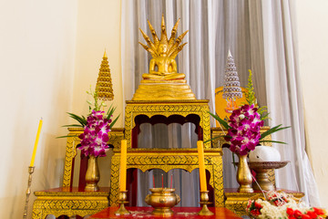 Image of Buddha and Set of altar table