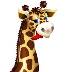 Giraffe's Head Funny Cartoon Character - Testa Giraffa Buffa