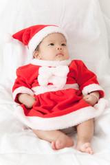 Little girl with santa costume