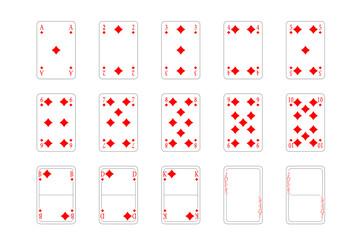Spielkarten - Karo
