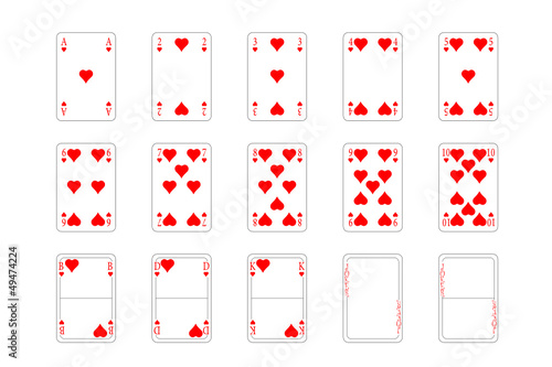 Spielkarten - Herz, Muster\