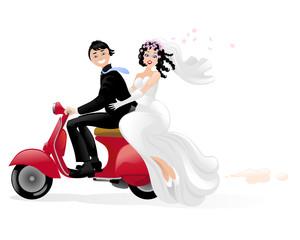 Disegni di sposi stilizzati acolore for Sposi immagini