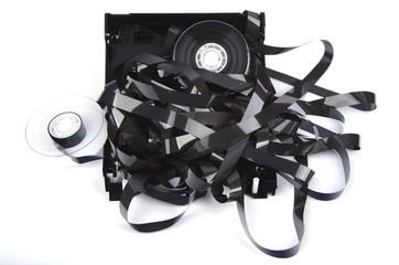 Videokasette, zerlegt