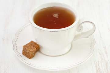 cup of tea with sugar