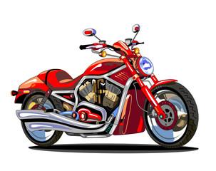 Keuken foto achterwand Motorfiets realistic red motorcycle