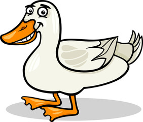 duck farm bird animal cartoon illustration