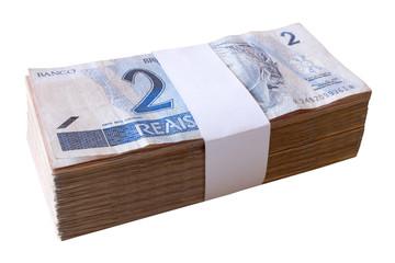 Bills, 2 Reais - Brazilian money.