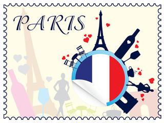 In de dag Doodle Paris - romance and love