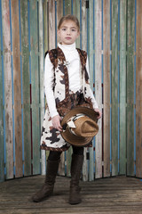 cowgirl in country outfit