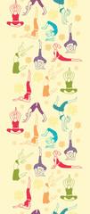 Vector workout fitness girls vertical seamless pattern