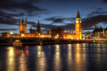 House of Parliament at night - London