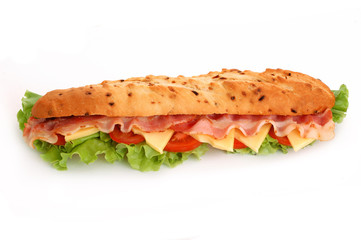 baguette and bacon