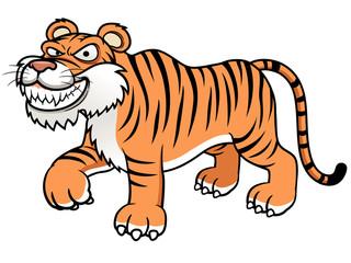 illustration of Cartoon tiger