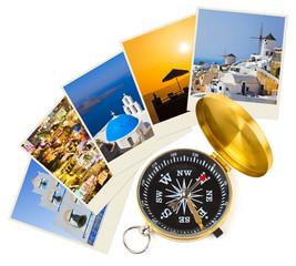 Santorini photography and compass