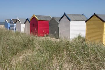 Beach Huts at Southwold, Suffolk, UK.