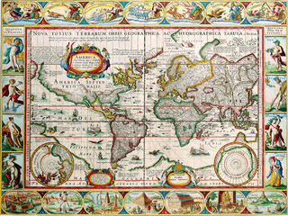 Antique map 1628