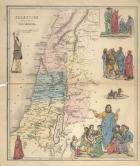 Wall Mural - Palestine old map