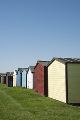 Beach huts at Dovercourt, near Harwich, Essex, UK