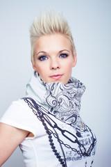 fashion model woman wearing scarf