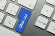 Über uns Tastatur Finger