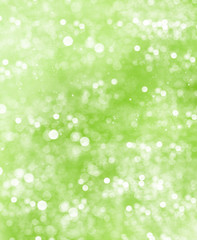 abstract green blurred background. shiny lights