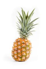 fresh pineapple detail on white background
