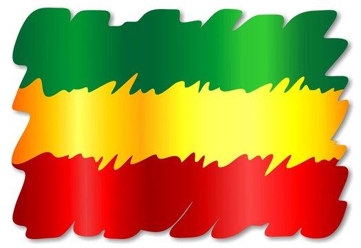 Rasta Colors Grunge Flag-Bandiera Colori Rasta-Vector