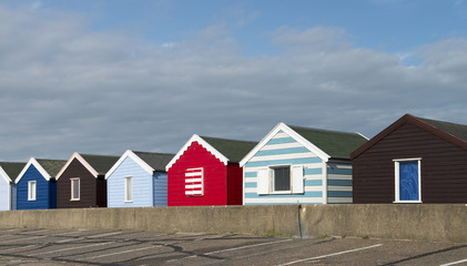 Beach Huts at Southwold, Suffolk, UK