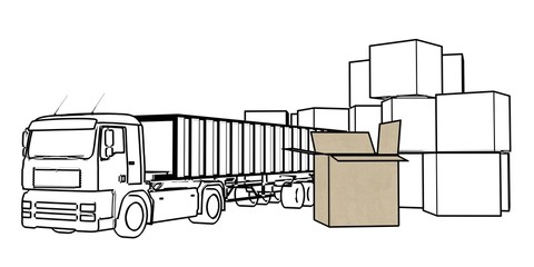 transport services (truck and cartons)