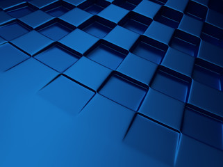 Chess blue metallic background