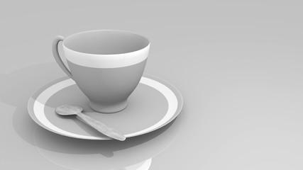 tazza da caffè su sfondo bianco