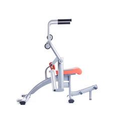 Orange isodynamic exerciser. Isolated on white