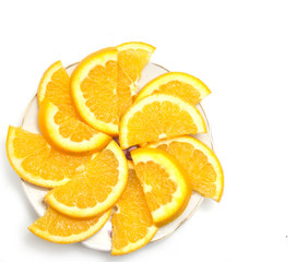 Tuinposter Plakjes fruit sliced ​​orange