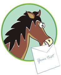 horse  - text