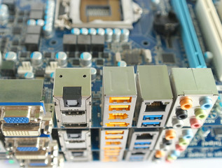 Three computer main boards.