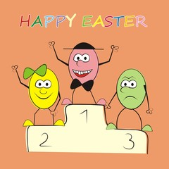 happy easter-eggs