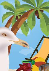 Poster de jardin Oiseaux, Abeilles vacanza