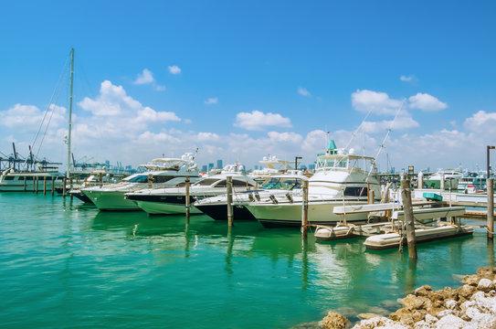 Yachts Marina in Miami Beach