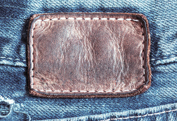 jean leather tag