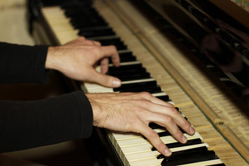 Playing on a Piano