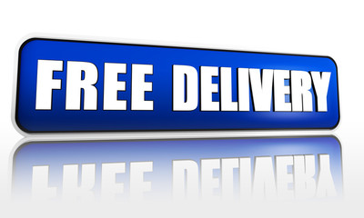 free delivery red banner
