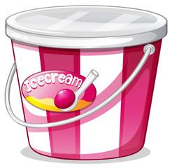 An ice cream bucket