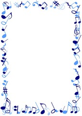 Blue Music frame