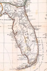 Wall Mural - Florida old map