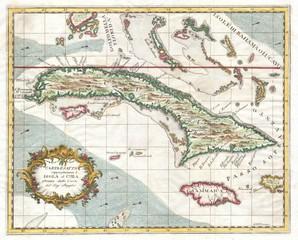 Wall Mural - Cuba old map