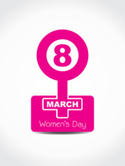 Creative pink color design element for women's day