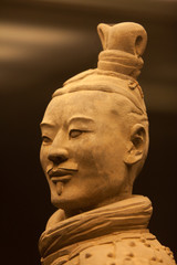 Terracotta warrior in close up