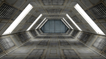 Futuristic Interior. SCIFI. Science Fiction