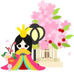 Keuken foto achterwand Magische wereld ひな祭り 〜おひな様〜