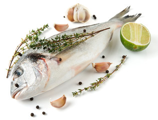 Gilt-head bream with herbs and spices